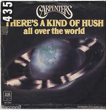 """CARPENTERS - There's a kind of hush - VINYL 7"""" 45 LP ITALY 1976 VG+ COVER VG-"""