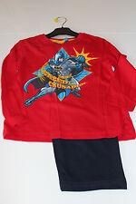 Neu Pyjama Set Schlafanzug Jungen Mädchen BATMAN rot blau Gr. 98 104 116 128 #32