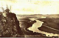 Postcard 1930's Valley Of Tay Kinnoull Hill Perth Posted RP Robertsons Library