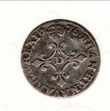 LOUIS XIV 4 SOLS DITS DES TRAITANTS 1676 D = LYON patine vieux mèdaillè