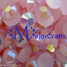 1000pcs Light Pink AB 5mm ss20 Flat Back Resin Rhinestones Nail Art Gems C48