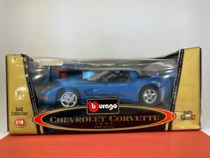 Burago - 1/18 Gold Collection - 1997 Chevrolet Corvette - Diecast Car