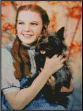 Cross Stitch Chart The Wizard of Oz - Judy Garland and Toto #51-100(Large Print)