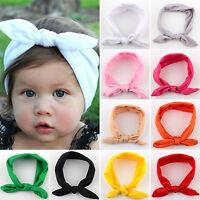 Baby Girls Bunny Turban Knot Rabbit Headband Bow Hair Bands Head Wrap