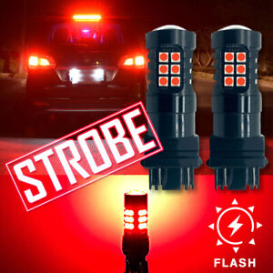 3157 30-LED Strobe Flashing Brake Tail Light Bulbs for Nissan Altima Frontier