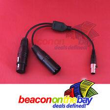 "Australian Made Customisable Mini 1/8"" XLR Female to 2 XLR Male Female Adapter"