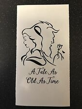 Beauty And The Beast A Tale As Old As Time Vinyl Lantern/Vase Decal