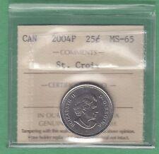 2004P Canadian 25 Cents St.Croix - ICCS Graded MS-65