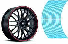 Wheel Striping Stripes Stickers Decals for Motorbike or Car *7mm* Light Blue