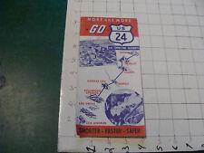 vintage paper item - GO US 24 and connecting highways LA / QUEBEC