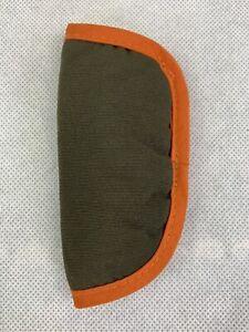 GENUINE MAXI COSI SHOULDER PADS FOR CABRIOFIX CAR SEAT Khaki Orange Trim 1 PAD