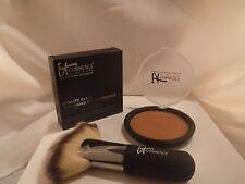 it Cosmetics Vitality Glow Anti-Aging Matte Bronzer & Heavenly Fan Brush #9 NIB