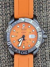 NOS Victorinox Automatic Men's Dive Watch Orange 241354 Divemaster 500 MSRP 1200
