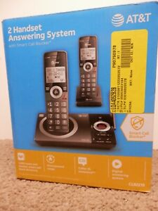 AT&T CL82219: 2 Handset Answering System Telephone - Black