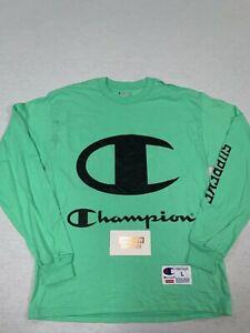 SUPREME CHAMPION BIG CLASSIC C LOGO LS TEE SHIRT T BOX LOGO GREEN L LARGE