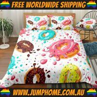 Icey Donut Bedspread Set - Duvet Cover, Quilt, Bright *FREE WORLDWIDE SHIPPING*