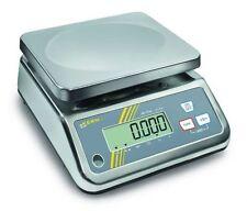 Bilancia compatta da tavolo acciaio inox 65 protezione umidità KERN FFN 6K1IPN