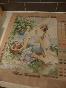 TAPESTRY CANVAS~MULLER UND KIND~Unworked Canvas. W- Germany~Willem Haenraets