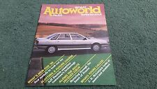 SPRING 1988 RENAULT AUTOWORLD NO.103 UK BROCHURE - 5 EVENT 9 11 ESPACE 25 21 Ti