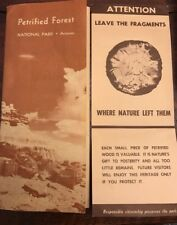 Vintage 1960's The Petrified Forest California Brochure Map + Leave Wood Alone