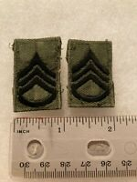 Authentic US Army Staff Sergeant SSG E6 Rank BDU OD Green Insignia Patch