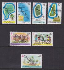 Tuvalu 1978 Mint MNH Full Set optd SPECIMEN Independence Island Atolls Culture