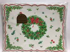 Vintage Hallmark 8 Placemats Christmas Wreath Holly Berry