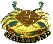 Tac or Lapel Pin Maryland Blue Crab Hat