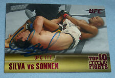 Chael Sonnen Signed 2011 Topps UFC Title Shot Fights Card Ruby 5/8 117 Autograph
