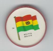 1963 General Mills Flags of the World Premium Coins #34 Bolivia