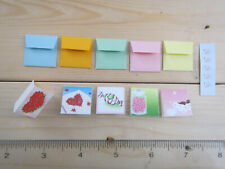 BARBIE SZ MINIATURE OFFICE SUPPLY CARD ENVELOP POSTAL STAMPS 1/6 SCALE