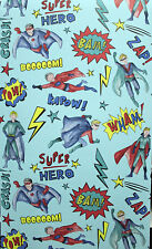 3 Rollen Kindertapete Arthouse Imagine 696200 Superhero Blau kunterbunt