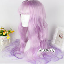 Lolita Lady Mix Light Pink 65CM Long Curly Hair Fancy Anime Cosplay Wig