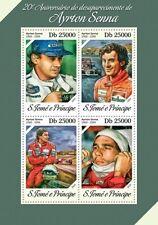 Sao Tome 2014 Ayrton Senna F1 Formula 1 Car Racing S/S ST14216