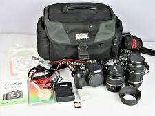 Canon Rebel XSi DSLR Camera with EF-S 18-55mm f/3.5-5.6 IS Lens +extras