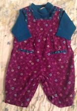 Gymboree Baby Girl Newborn Outfit Size 3-6 Month Corduroy One-Piece & Turtleneck