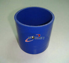 """3"""" Inch 76mm Blue Silicone Straight Hose Joiner Intake Intercooler Couple pipe"""