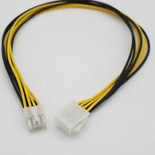 50cm 8-Pin 2x4 ATX 12V CPU EPS Power Supply Male to Female Extension Cable/Cord