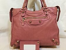 Authentic BALENCIAGA F/W 2013 Velo Rose Bonbon Pink Rosegold Giant $1895.00 city