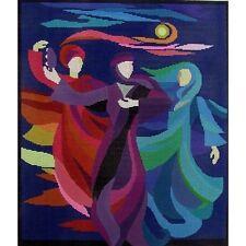 DANCING MIRIAM PICTURE HANDPAINTED NEEDLEPOINT CANVAS BRACHA LAVEE ON SALE