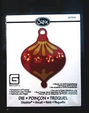 Sizzix Sizzlits ORNAMENT WITH FLOWERS CHRISTMAS fits Cuttlebug Die Cutter 657226