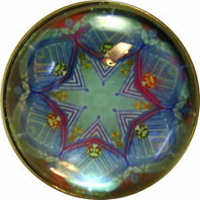 """Crystal Dome Button Kaleidoscope blue pink 1 /& 3//8/""""  K22 FREE US SHIPPING"""