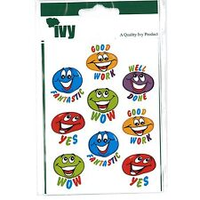 54 Motivational Stickers Self Adhesive Labels 19mm - Smiling Blobs - Ivy