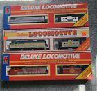 Life-Like HO Deluxe Locomotive & Caboose - Santa Fe, Amtrak and Delaware Hudson