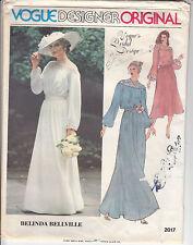 Bridal Wedding Gown Dress MOB Vintage VOGUE Sewing Pattern 2017 Sz 14 Uncut