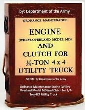 Ordnance Maintenance Engine (Willys-Overland Model MD)and Clutch for 1/4-Ton 4X4