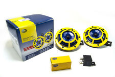 HELLA 114dB Extremely Loud Street Legal 12V Sharptone Dual Horn Yellow H31000001