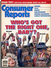 Consumer Reports - 1991, August - Cola, Laser Surgery, Diapers, Pest-Free Pet