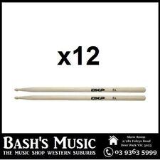 12 x DXP Drum Pack Sticks 5A Bulk Buy Wood Tip 12 Pairs