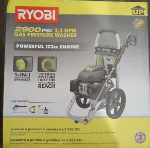 Ryobi Pressure Washer 2900 PSI 2 3 GPM Compact Outdoor Power Equipment Cleaning.